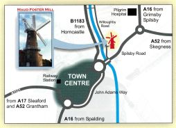 Location of Maud Foster Windmill
